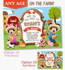 mickey mouse farm invitation minnie mouse farm invitation