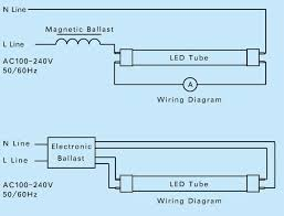 rewire fluorescent light for led led t8 tube l direct replacement light ly t8l1200 22w in led