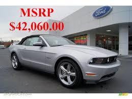 2011 Black Mustang Gt 2011 Ford Mustang Gt Premium Convertible In Ingot Silver Metallic