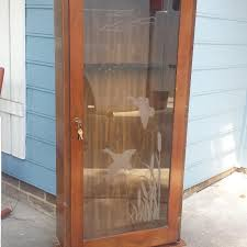 gun cabinet for sale find more glass gun cabinet w frosted duck image for sale at up to