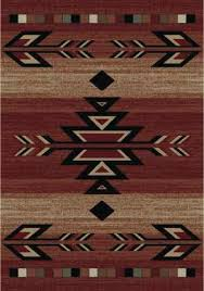 Southwestern Throw Rugs 8x10 Lodge Cabin Southwest Southwestern Rio Grande Red Black Beige