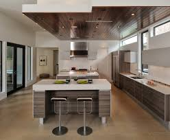 drop ceiling ideas kitchen modern with neutral colors breakfast bar
