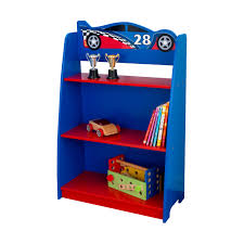 bedroom cool kidkraft dollhouse bookcases race car design in blue cool kidkraft dollhouse bookcases race car design in blue and red shelf kids bedroom decor standing on wood flooring best combined with blue curtain window