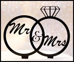 ring cake topper wedding cake topper mr and mrs in wedding rings diamond ring