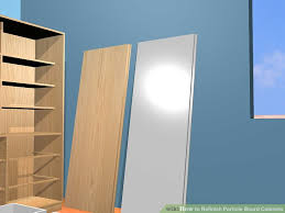 Painting Pressboard Kitchen Cabinets How To Refinish Particle Board Cabinets 15 Steps With Pictures