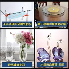 glue for glass to metal table glue shadowless plastic transparent crystal glass acrylic metal glue