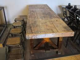 Etabli De Menuisier Ancien En Bois Table De Salle A Manger Ovale 10 Grande Table 201tabli En Bois