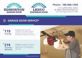 Leduc Overhead Door Garage Door Service Special