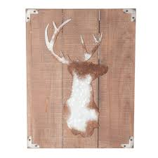 luxe wooden stag wall temple webster