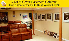 interesting decoration basement support post cover cozy design