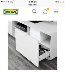 ikea white gloss tv bench unit in yeovil somerset gumtree