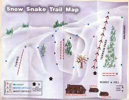 Michigan Trail Maps by Snow Snake Mountain Ski Area Trail Map