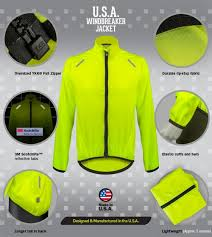 cycling windbreaker jacket usa cycling windbreaker jacket made in usa