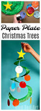 paper plate christmas tree whirligig christmas tree and decoration
