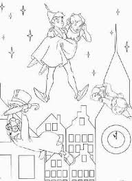 peter pan and city coloring page