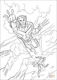 wolverine coloring free printable coloring pages