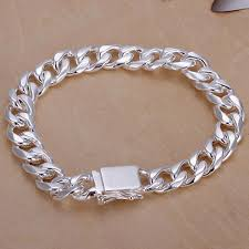 bracelet silver chain images 2018 new silver bracelet the male and female fashion hand jpg