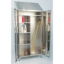 stainless steel broom and janitorial cabinets by j u0026k ss ltd