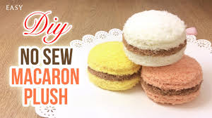 amazing no sew plush tutorial for macarons youtube