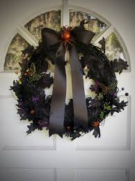 Black Halloween Wreath Spider Violets Black Wreaths