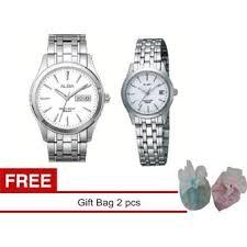 Jam Tangan Alba Putih harga alba jam tangan pasangan pria wanita putih