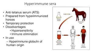 Serum Ats acquired immunity