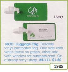 Business Card Luggage Tags Laminated Scout Luggage Tags