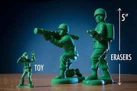 army erasers large erasers styled after plastic soldiers