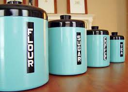 vintage canisters for kitchen weekend diy retro canister set spray painting retro and sprays