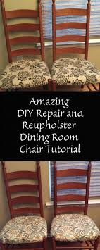 Amazing DIY Repair And Reupholster Dining Room Chair Tutorial - Reupholstered dining room chairs