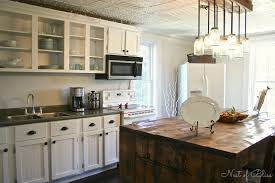 island with seating butcher block rustic french country kitchen