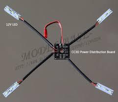 qav250 cc3d mini power distribution board control x1 led light