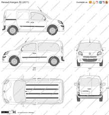 renault kangoo 2016 the blueprints com vector drawing renault kangoo ze