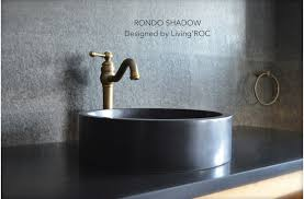 black stone bathroom sink 16 round black granite stone vessel sink rondo shadow