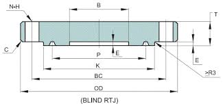 Threaded Blind Flange Api 6a Type 6b 2000 Psi 13 8 Mpa Rtj Blind Flange Dimensions And