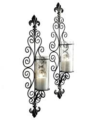 Wall Candle Holders Sconces Wall Ideas Black Wall Candle Holders Black Wall Mounted Candle