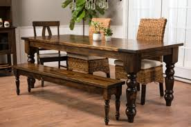 Wood Kitchen Table With Bench And Chairs Baluster Turned Leg Table James James Furniture Springdale