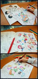 Exo A Day In Exoplanet Coloring Book Hey Eonni Coloring Pages Kpop