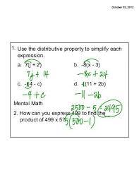 classwork combining like terms u0026 distributive property