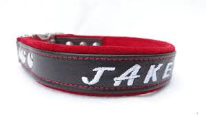 brown and leather and suede customized personalized collars