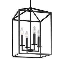 Lantern Ceiling Light Fixtures Lantern Pendant Lights Lighting The Home Depot