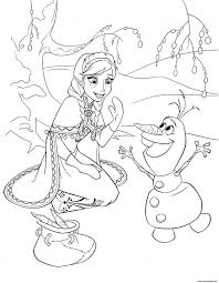 elsa olaf frozen disney coloring pages printable