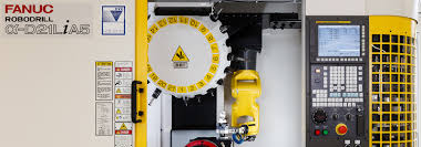 automated production cell built with fanuc technology
