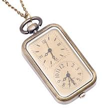 vintage watch chain necklace images 81stgeneration women 39 s brass vintage style dual time jpg