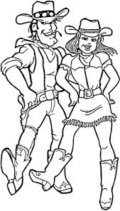 cowboy cowgirl coloring free printable coloring pages