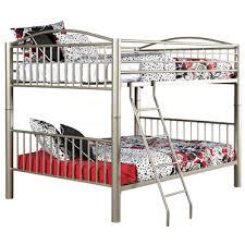 SilverPewter Metal Full Heavy Duty Bunk Beds All American - Heavy duty bunk beds