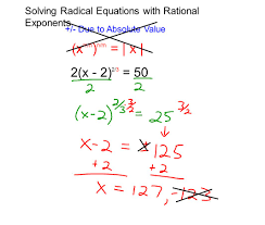 Radicals And Rational Exponents Worksheet Answers Solving Equations With Rational Exponents