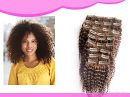 curly hair extensions clip in 8 light brown afro curly clip in hair extensions human 100g