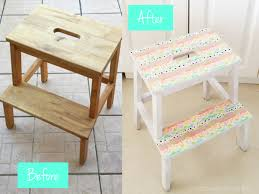 Ikea Bekvam Stool by Ikea Hack Colourful Step Stool With Washi Tape Petit Bout De Chou