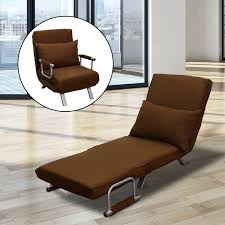 homcom folding convertible single sleeper sofa bed with pillow